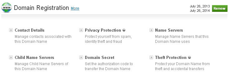 如何更改域名的名称服务器?